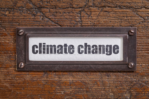 climate change  label Stock photo © PixelsAway