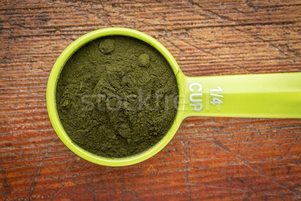 Organic chlorella powder Stock photo © PixelsAway