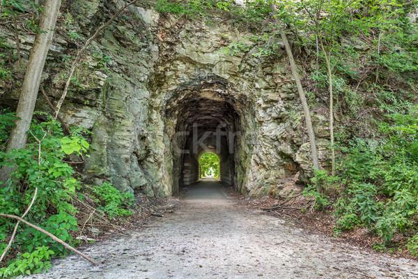 тропе туннель Миссури велосипедов старые Сток-фото © PixelsAway
