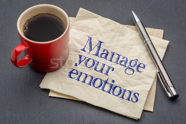 manage your emotions advice Stock photo © PixelsAway