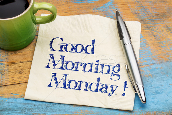 Good Morning Monday Stock photo © PixelsAway