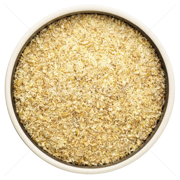 golden flax meal in a round bowl Stock photo © PixelsAway