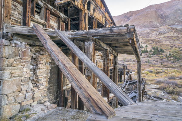 ruins of gold mine in Rocky Mountains Stock photo © PixelsAway