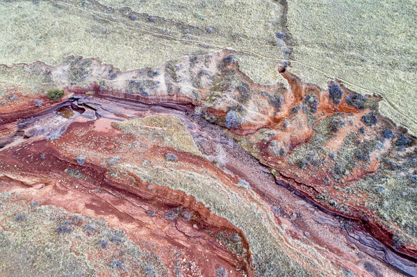 aerial landscape abstract of Colorado foothills Stock photo © PixelsAway