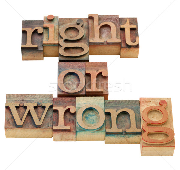 right or wrong moral dilemma Stock photo © PixelsAway