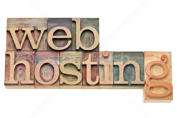 Web hosting Internet yalıtılmış metin bağbozumu Stok fotoğraf © PixelsAway