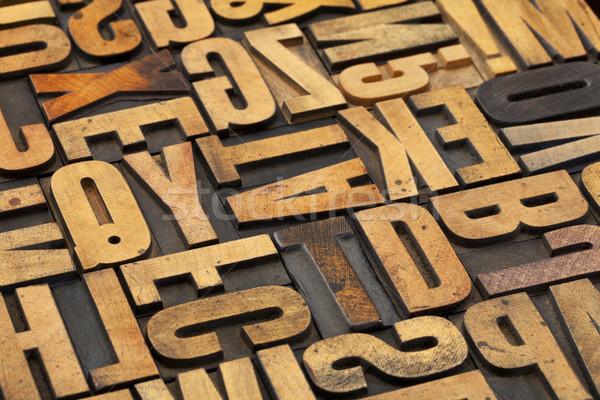 antique wood alphabet abstract Stock photo © PixelsAway