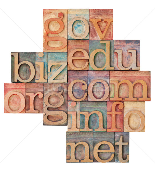 Internet hout type collage populair domein Stockfoto © PixelsAway