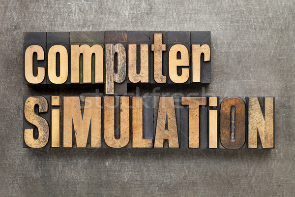 computer simulation Stock photo © PixelsAway