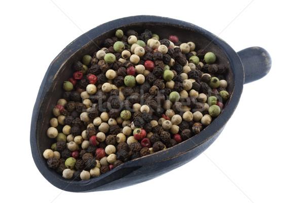 scoop of colorful rainbow peppercorns Stock photo © PixelsAway