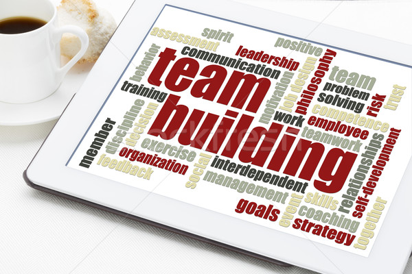 team building word cloud Stock photo © PixelsAway