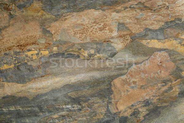 abstract landscape in slate rock Stock photo © PixelsAway