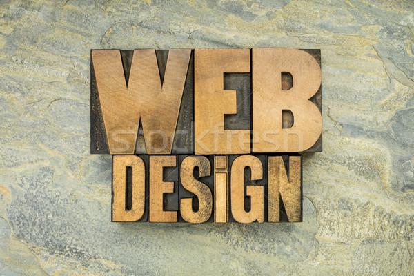 web design in wood type Stock photo © PixelsAway