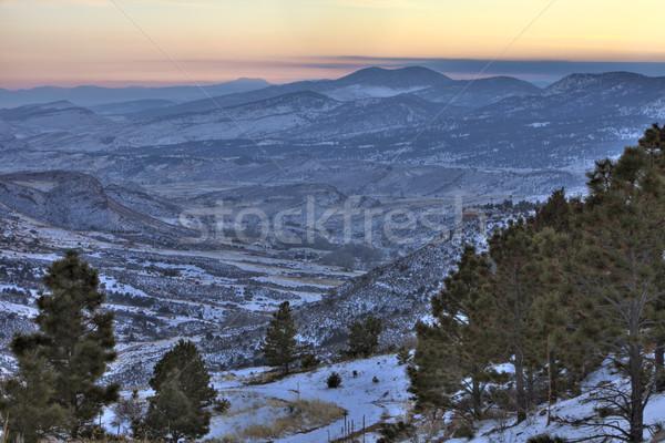 winter dusk at Colorado Rocky Mountains Stock photo © PixelsAway