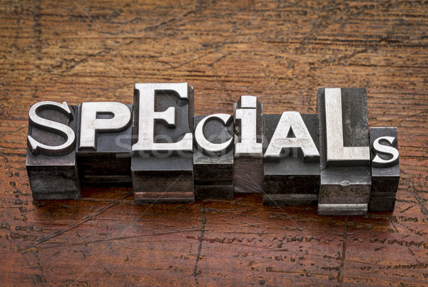 specials word in metal type Stock photo © PixelsAway