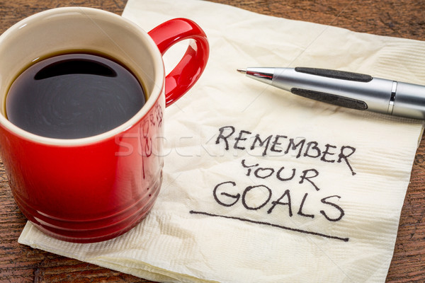 remember your goals Stock photo © PixelsAway