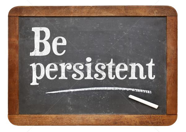 Persistente motivacional conselho vintage lousa Foto stock © PixelsAway