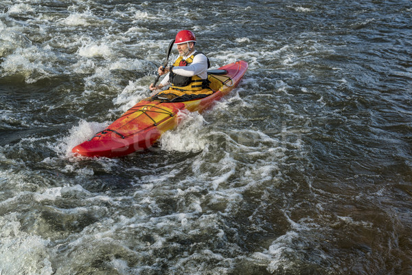 paddling whitewater kayak Stock photo © PixelsAway