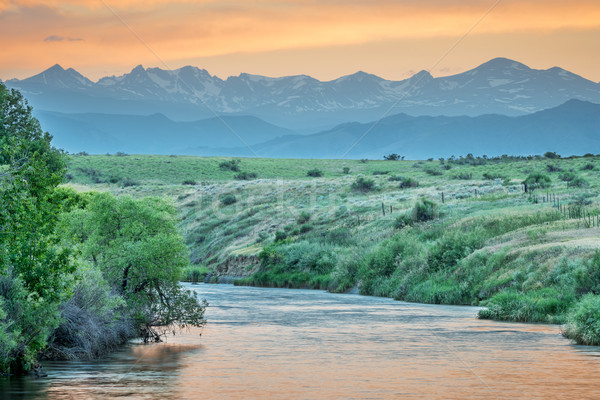 St Vrain Creek and Rocky Mountains  Stock photo © PixelsAway