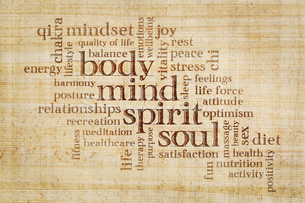 mind, body, spirit and soul word cloud Stock photo © PixelsAway