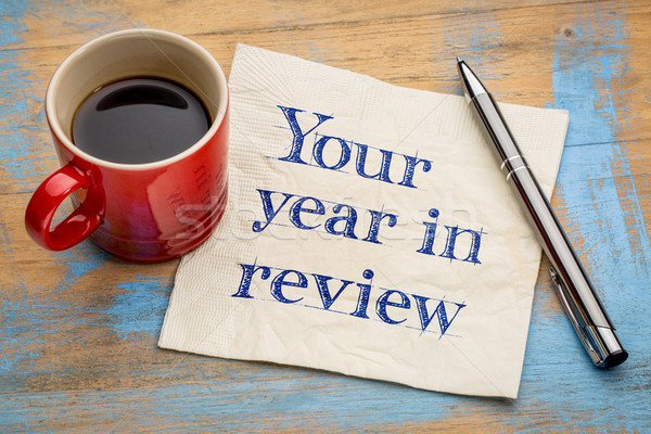 Your year in review napkin concept Stock photo © PixelsAway
