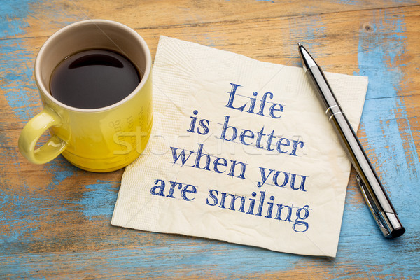 Life is better when you are smiling Stock photo © PixelsAway