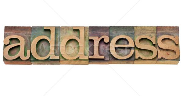 адрес слово тип изолированный Vintage Сток-фото © PixelsAway