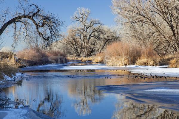 winter river in Colorado Stock photo © PixelsAway