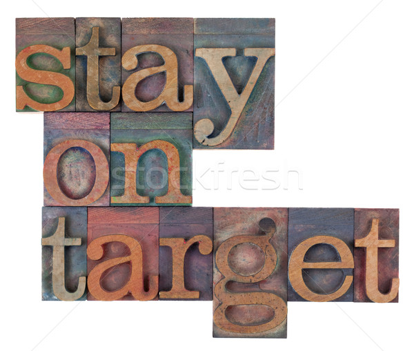 stay on target Stock photo © PixelsAway