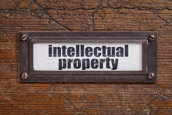 intellectual property label Stock photo © PixelsAway