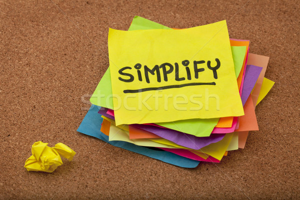 simplify reminder Stock photo © PixelsAway