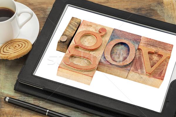 Internet domein overheid hout Stockfoto © PixelsAway