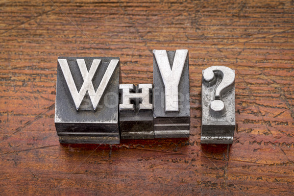 why question in metal type Stock photo © PixelsAway