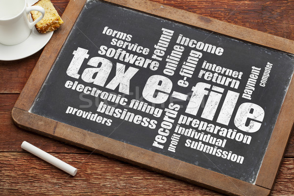 tax e-file word cloud Stock photo © PixelsAway