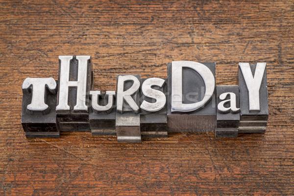 Thursday word in mixed vintage metal type Stock photo © PixelsAway