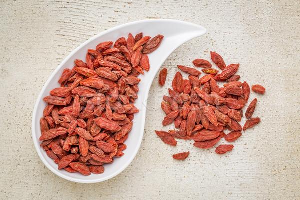 dried goji berries Stock photo © PixelsAway