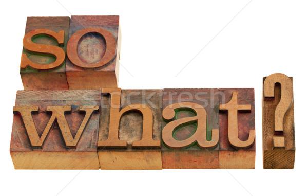 何 質問 ヴィンテージ 木製 印刷 ストックフォト © PixelsAway