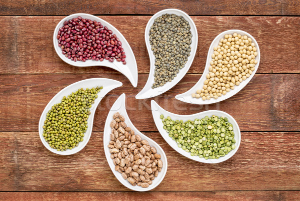beans, lentils and pea abstract Stock photo © PixelsAway