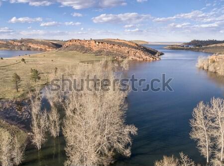 aeiral landscape of mountain lake Stock photo © PixelsAway