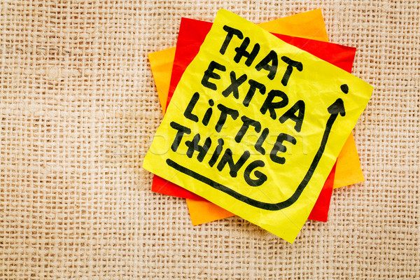 Stock photo: That little extra thing