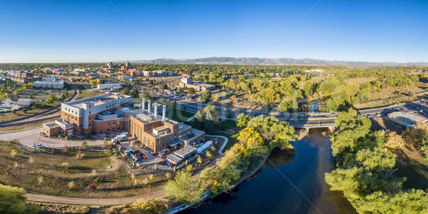 aerial panorama of Fort Collins downtown Stock photo © PixelsAway