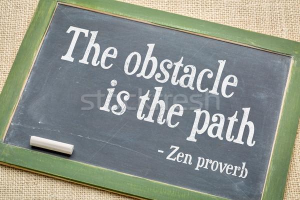 Pad zen spreekwoord vintage Blackboard Stockfoto © PixelsAway