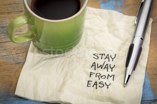 Kalmak uzak kolay hatırlatma el yazısı Stok fotoğraf © PixelsAway