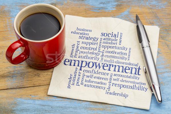 empowerment word cloud on napkin Stock photo © PixelsAway