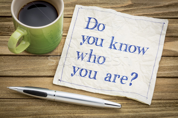 Do you know who you are question Stock photo © PixelsAway