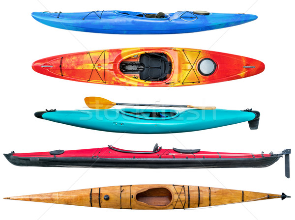 sea and whitewater kayaks collection Stock photo © PixelsAway