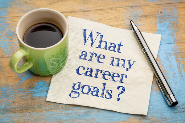 What are my career goals? Stock photo © PixelsAway