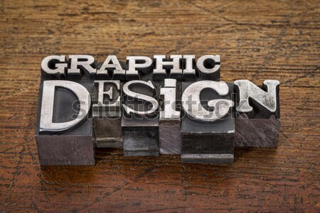Stock photo: design word abstract in letterpress type