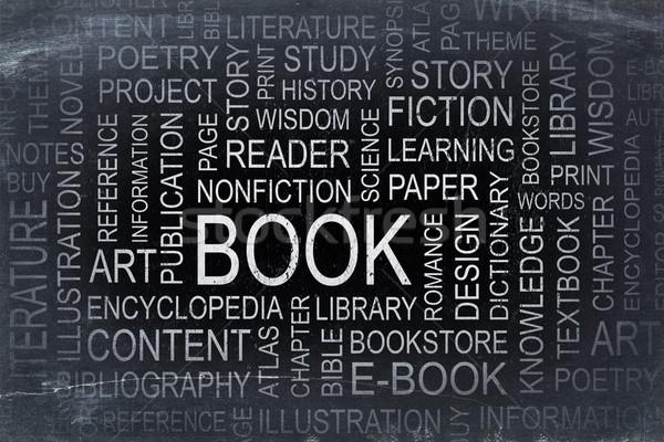 book word cloud on a slate blackboard Stock photo © PixelsAway