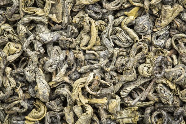 Textura chinês chá verde macro imagem solto Foto stock © PixelsAway